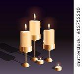 vector realistic burning... | Shutterstock .eps vector #612752210