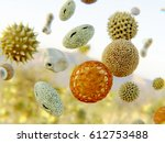 Pollen Grains. 3d Rendering...