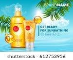 sunblock ads template  sun... | Shutterstock .eps vector #612753956