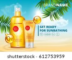 sunblock ads template  sun... | Shutterstock .eps vector #612753959