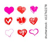 heart set vector | Shutterstock .eps vector #612762278