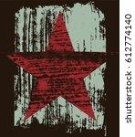 grunge texture star abstract...   Shutterstock .eps vector #612774140