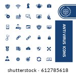 anti virus icon set clean vector | Shutterstock .eps vector #612785618