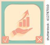hand holding a chart diagram...   Shutterstock .eps vector #612787010