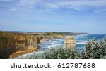 the view of great ocean road in ... | Shutterstock . vector #612787688