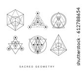 sacred geometry signs set.... | Shutterstock . vector #612788654