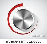 chrome volume knob with scale...