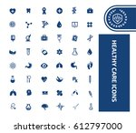 health care icon set clean... | Shutterstock .eps vector #612797000