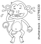animal outline for crying... | Shutterstock .eps vector #612798230