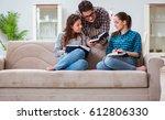 students preparing for... | Shutterstock . vector #612806330