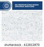 big icon set clean vector | Shutterstock .eps vector #612812870
