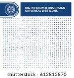 big icon set clean vector | Shutterstock .eps vector #612812870