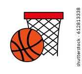 basket sport isolated icon | Shutterstock .eps vector #612813338