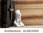 bible  cross  virgin mary  on...   Shutterstock . vector #612814304