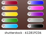 web elements vector button set... | Shutterstock .eps vector #612819236