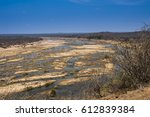 Dry Riverbed  With Blue Sky ...