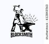 blacksmith isolated vector... | Shutterstock .eps vector #612843563