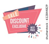 sale sticker origami | Shutterstock .eps vector #612844829