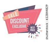 sale sticker origami | Shutterstock .eps vector #612844829
