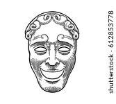 comedy theater mask. vector...   Shutterstock .eps vector #612853778