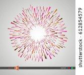 modern pattern. circle....   Shutterstock .eps vector #612854579