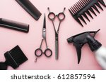 clippers  hair clippers  hair... | Shutterstock . vector #612857594