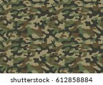 texture military camouflage... | Shutterstock .eps vector #612858884