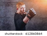 portrait of a street fighter on ... | Shutterstock . vector #612860864