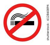 no smoking. | Shutterstock .eps vector #612860894
