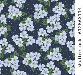 seamless cute pattern with... | Shutterstock .eps vector #612863114