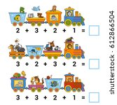 counting game for preschool... | Shutterstock .eps vector #612866504