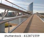 Pedestrian bridge in liege, Belgium