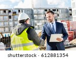 construction engineer and... | Shutterstock . vector #612881354