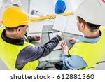 architect and construction... | Shutterstock . vector #612881360