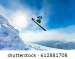 beautiful sunny day in the... | Shutterstock . vector #612881708
