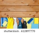 set of variety cleaning... | Shutterstock . vector #612897770