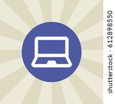 laptop icon. sign design....