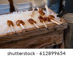 maple taffy on snow at the...   Shutterstock . vector #612899654
