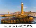 Whitby Pier  North Yorkshire  Uk