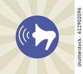 speaker icon. sign design....