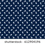 cute floral pattern in the... | Shutterstock .eps vector #612904196