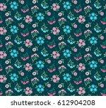 vector seamless pattern. cute... | Shutterstock .eps vector #612904208