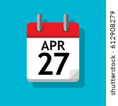 a single calendar page of april....   Shutterstock .eps vector #612908279