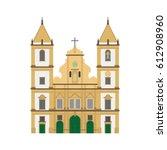 san francisco church  salvador... | Shutterstock .eps vector #612908960