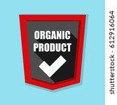 organic product shield sign   Shutterstock . vector #612916064