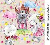 fairy tale seamless pattern.... | Shutterstock . vector #612920210