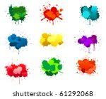 black ink blots isolated on...