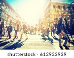 crowd of anonymous people...   Shutterstock . vector #612923939