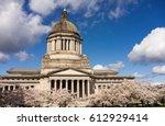 washington state capital... | Shutterstock . vector #612929414
