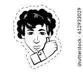 face man expression facial...   Shutterstock .eps vector #612933029